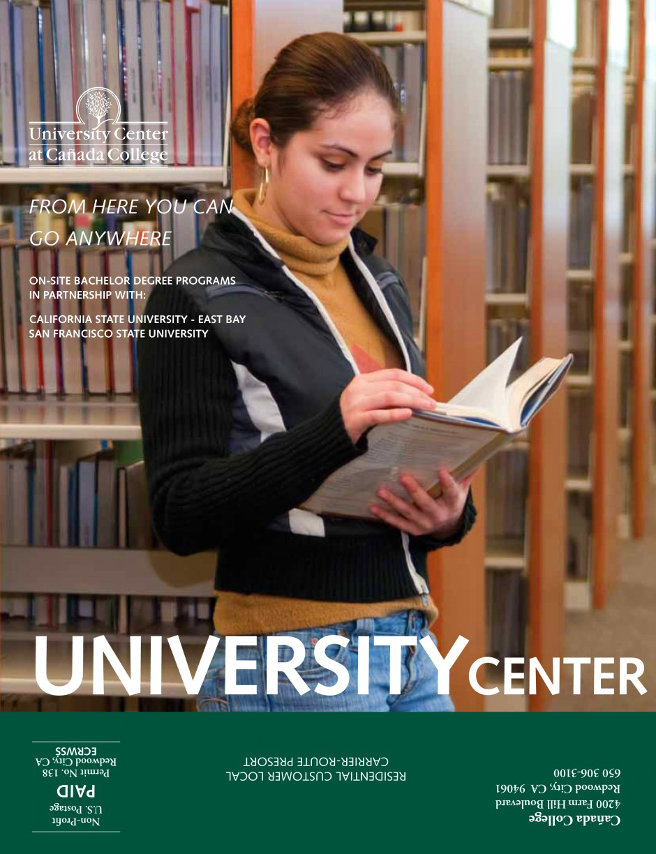 Cañada College: brochure cover 2010: commercial assignment