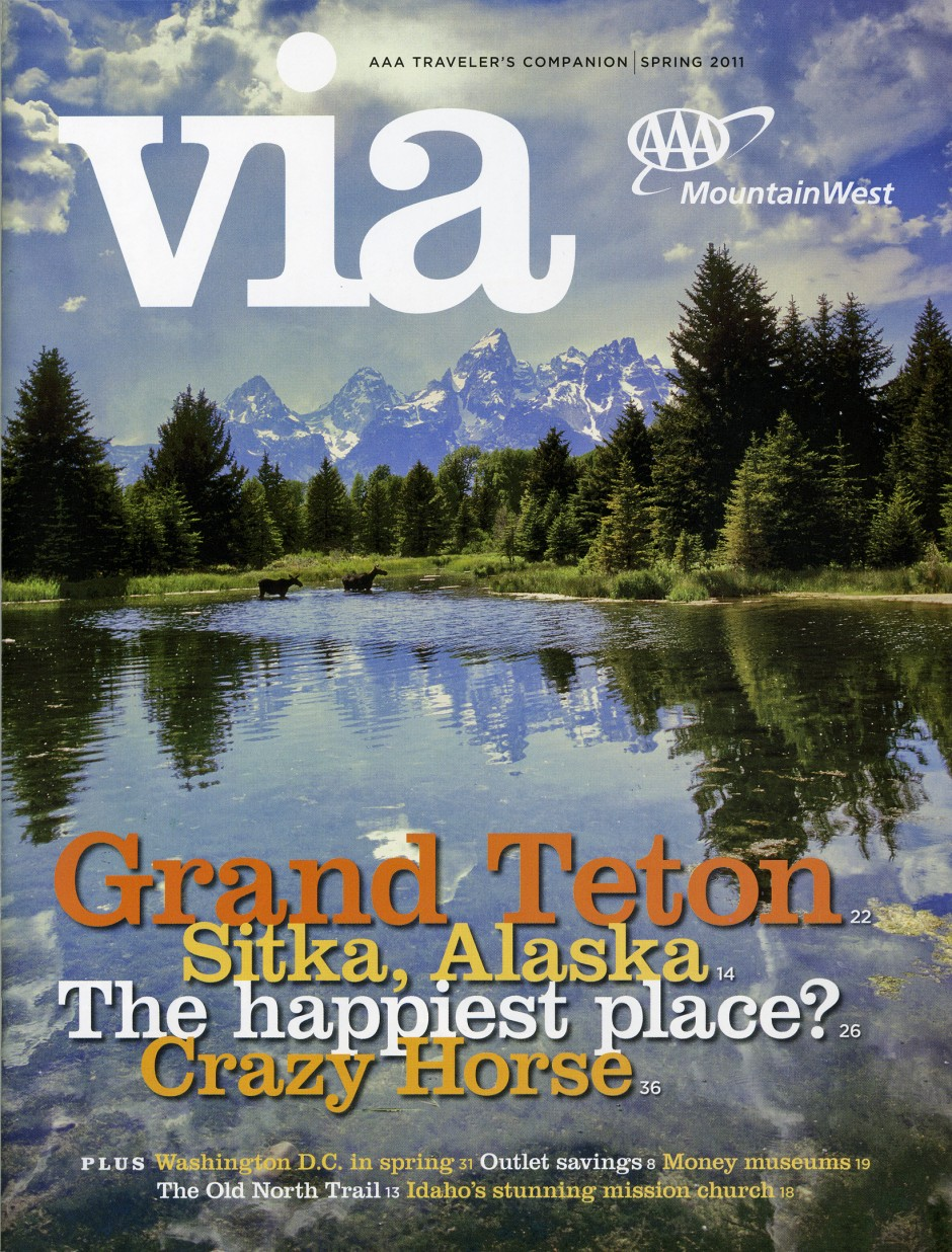 Via magazine cover: Spring 2011: Grand Tetons