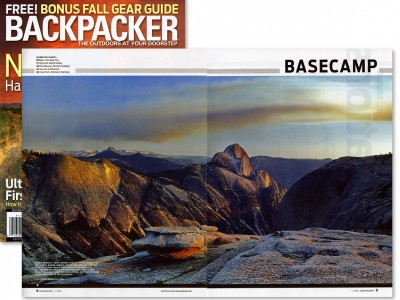 Backpacker magazine spread – November 2009
