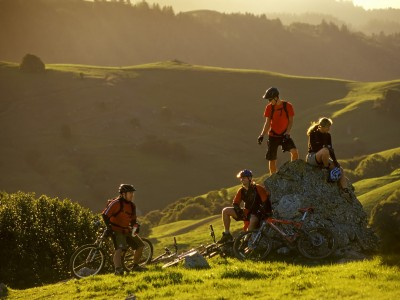 USA: California: Marin County: Mountain Biking