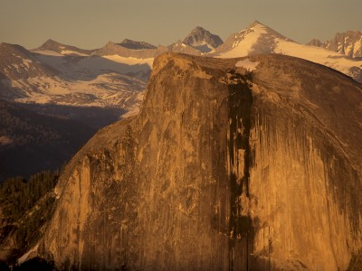 USA: California: Yosemite National Park: Half Dome at sunset