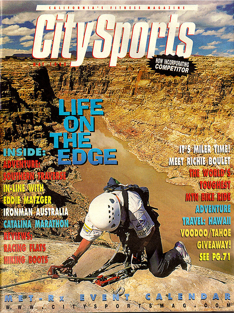 City Sports magazine cover: May 1998 - Eco-Challenge adventure race